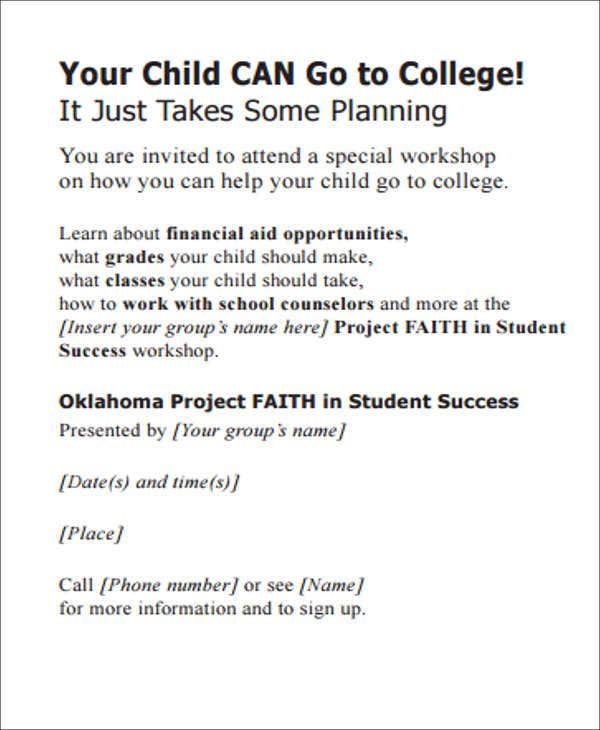parent workshop invitation template1