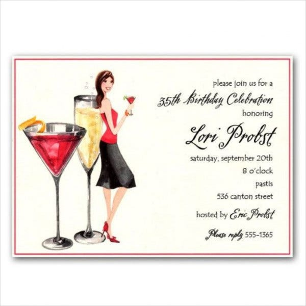 9 Cocktail Party Invitations PSD EPS or AI format – Coctail Party Invitation