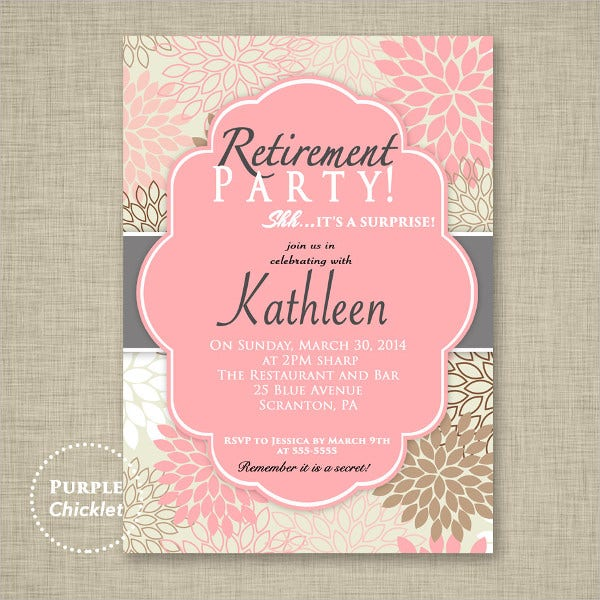 8 surprise invitation templates free editable psd ai vector surprise retirement party invitation template stopboris Gallery