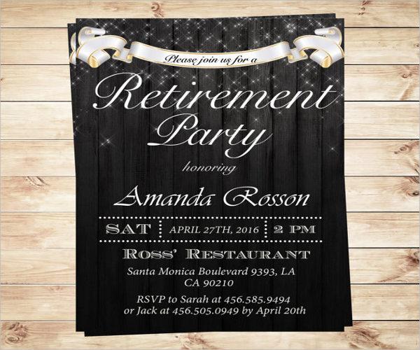 surprise retirement party invitation template1