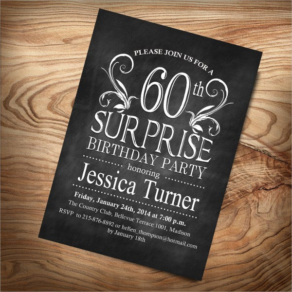 Surprise 60th Birthday Invitation Template