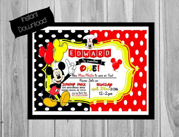 surprise mickey mouse invitation template