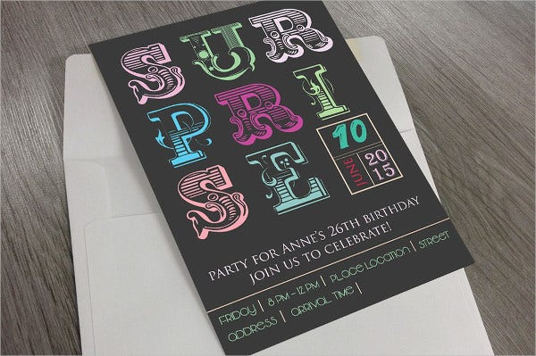 Surprise Birthday Invitation Template