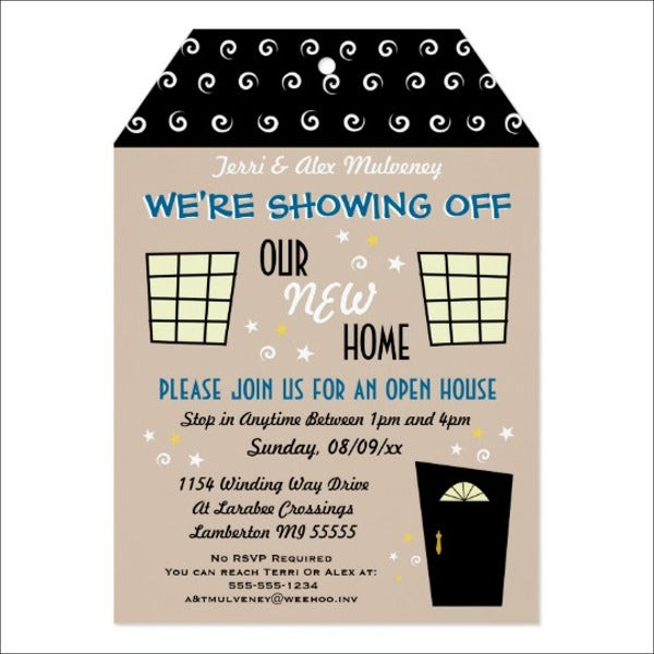 house opening invitation template