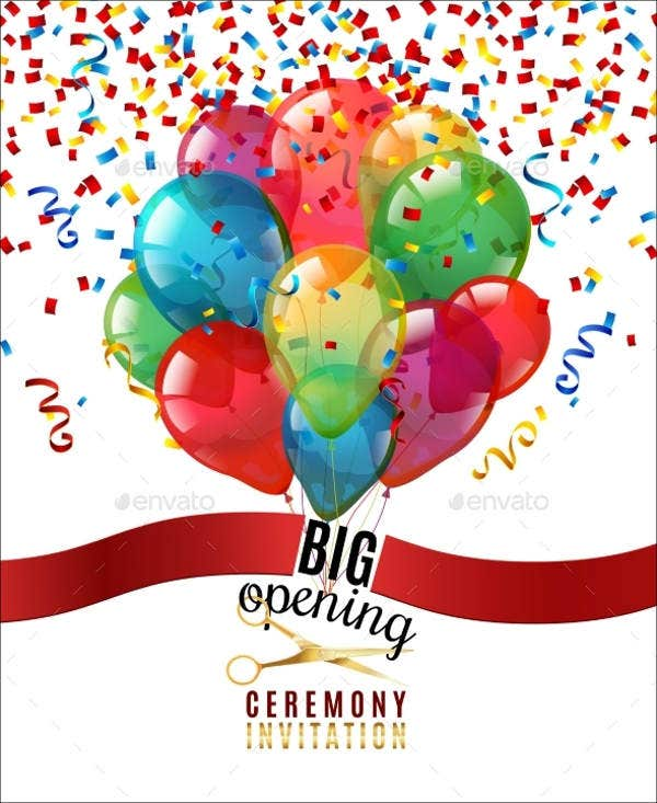 opening ceremony invitation template1