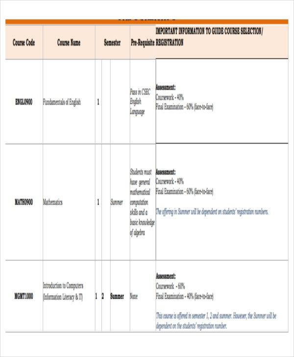 business administration work schedule template