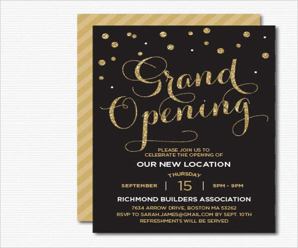 9 Opening Invitation Templates Free Sample Example Design – Inauguration Invitation Card Sample