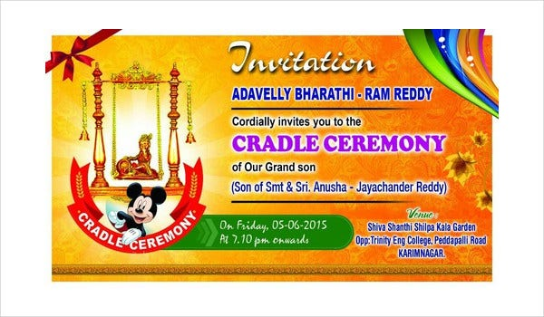 Cradle Ceremony Invitation Template