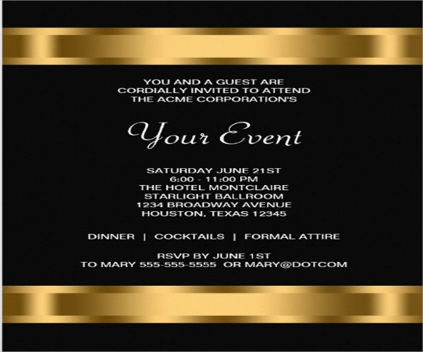 9 Opening Invitation Templates Free Sample Example Design