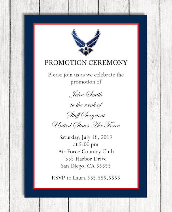 Promotion Ceremony Invitation Template