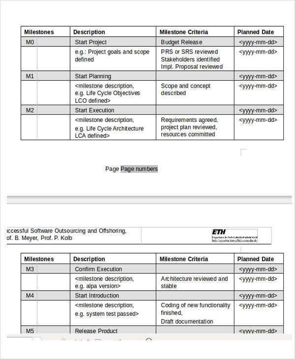 Project Payment Schedule Templates   Free Word Pdf Format