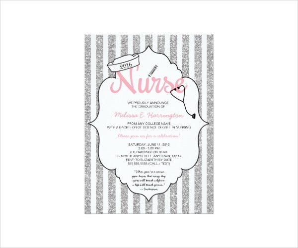Ceremony Invitation Card Template