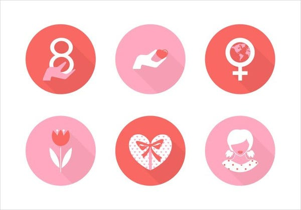 free womens day icons