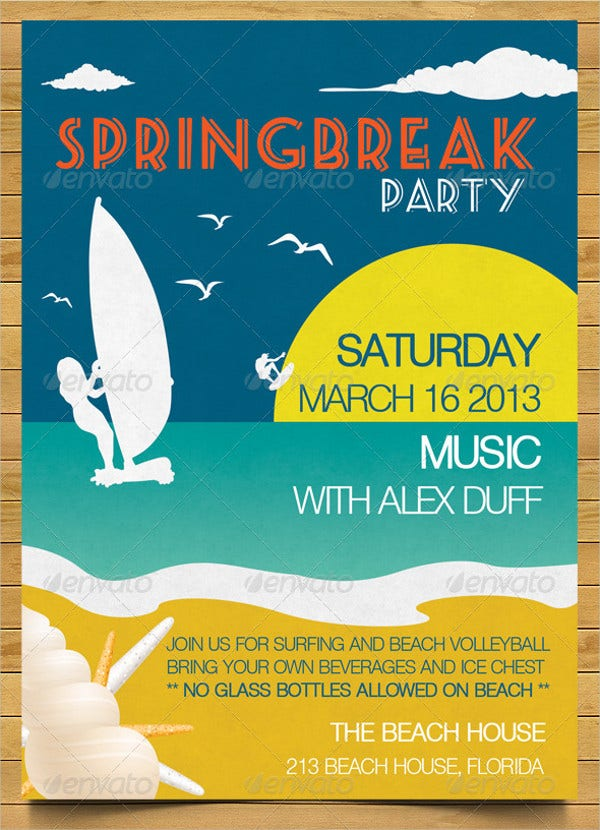 Beach Theme Party Invitation