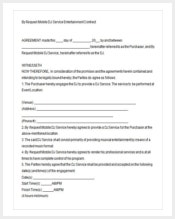 180 contract template free premium templates for Mobile dj contract template