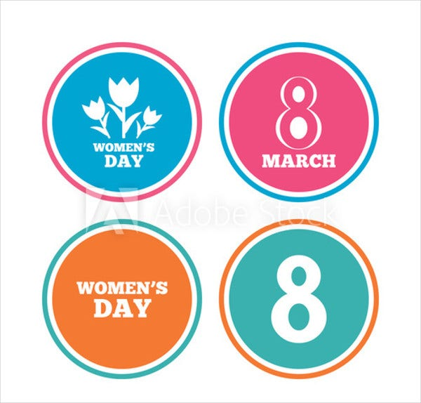 8 march womens day icons