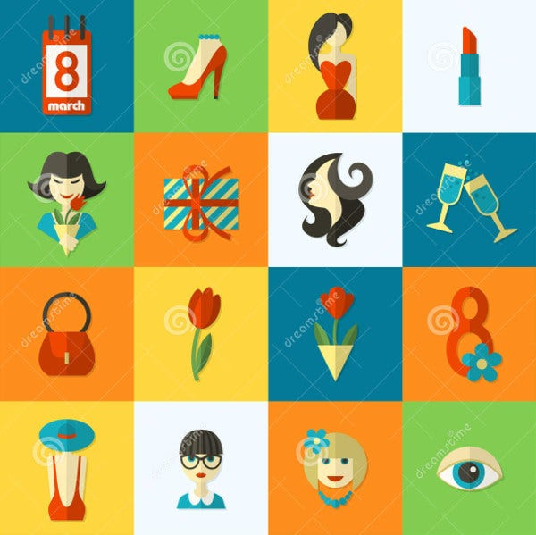 womens day abstract icons