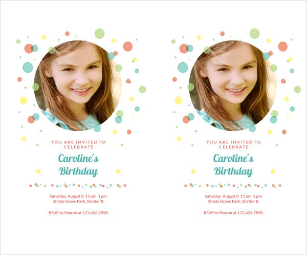 Free Photo Invitation Template