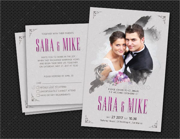 photo wedding invitation template