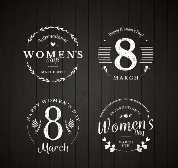 womens-day-badges-vintage