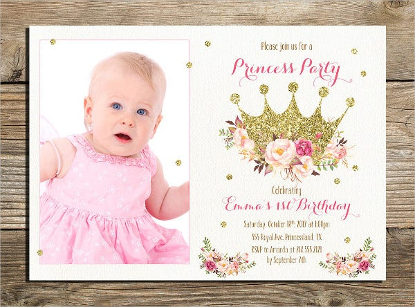 Printable Photo Invitation Template