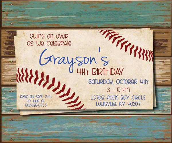 11  baseball party invitation design templates