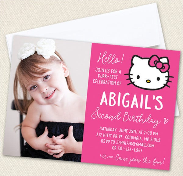 hello kitty photo invitation template