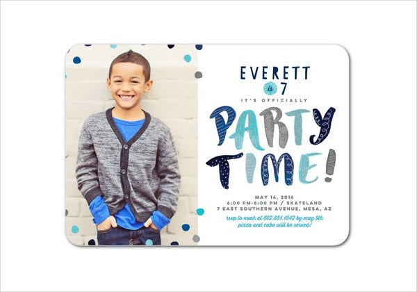 Birthday Photo Invitation Template