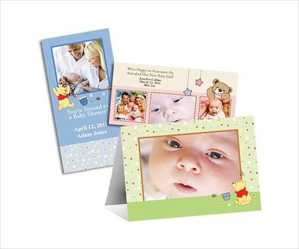 Baby Shower Photo Invitation Template