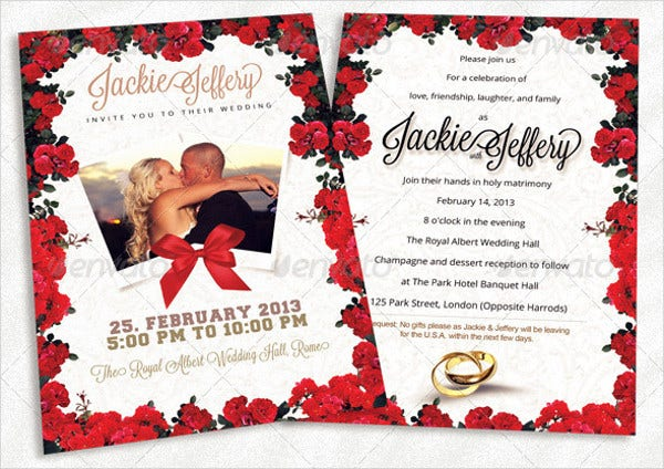 Photo Card Invitation Template