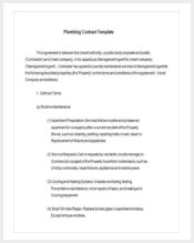 plumbing-maintenance-contract-template-free-download