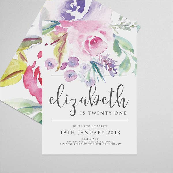diy birthday invitation template