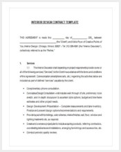 180 contract template free premium templates - Interior design contract template ...