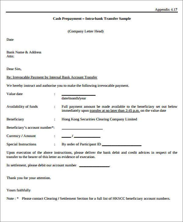 Bank Letter Templates 13 Free Sample Example Format Download