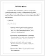 free-annual-maintenance-contract-template-download