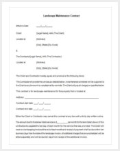 free-download-landscapingmaintenance-contract-template