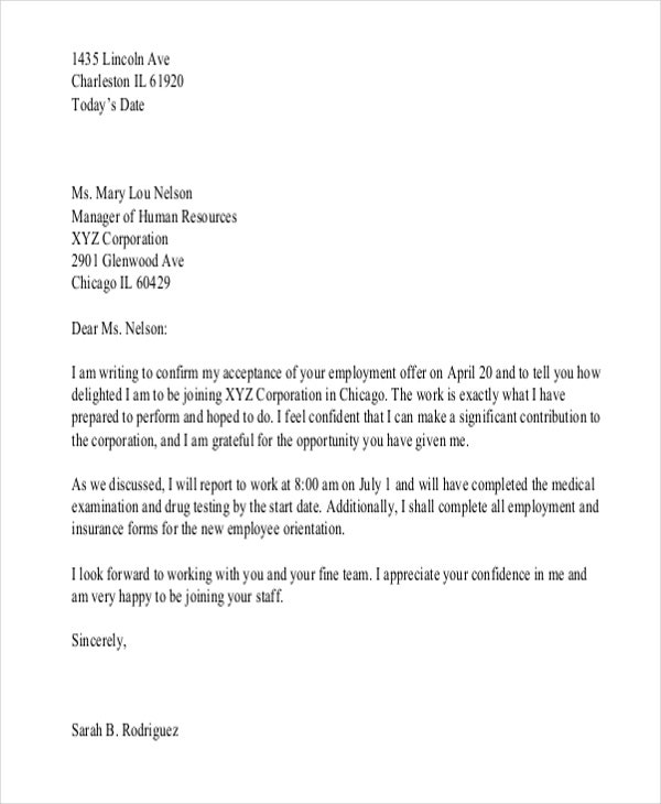 Letter confirming employment template uk new sample confirmation appointment confirmation letter template spiritdancerdesigns Choice Image