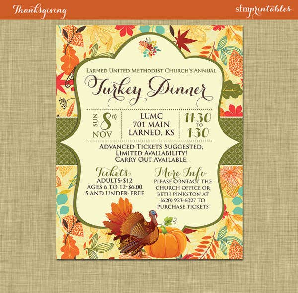 22  dinner ticket templates