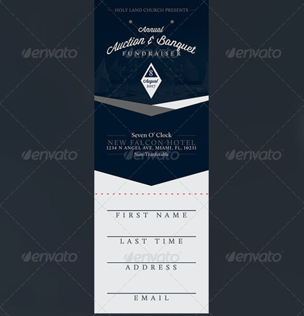 Fundraiser Dinner Ticket Template  Dinner Tickets Template
