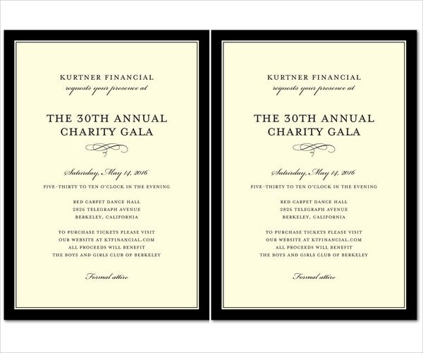 Attractive Business Event Invitation Template In Free Event Invitation Templates