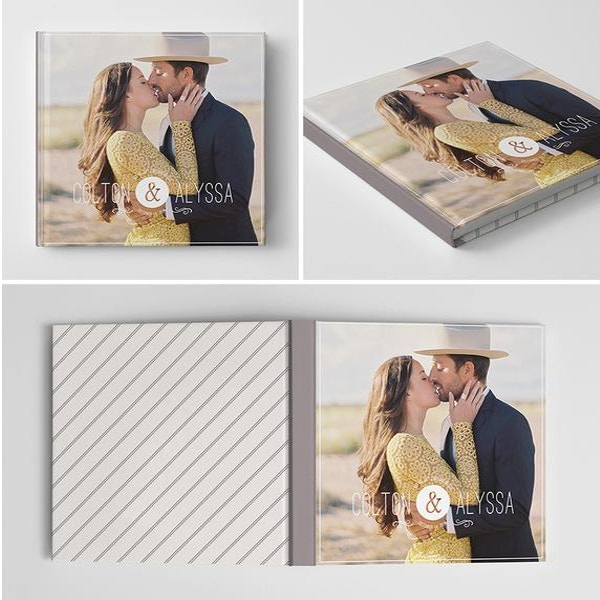 personalized engagement album template1