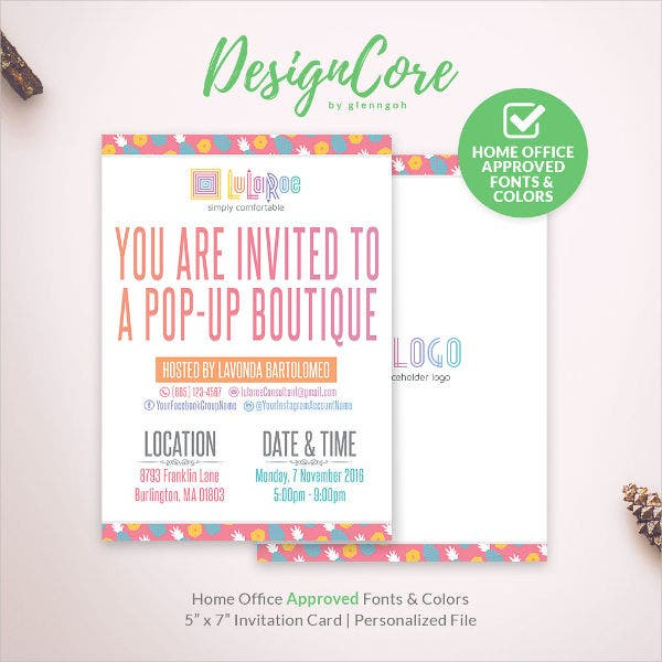 office invitation card template