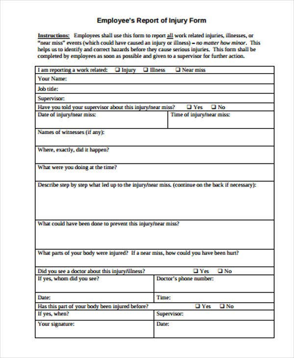 Construction Incident Report Template 15 Free Word PDF Format