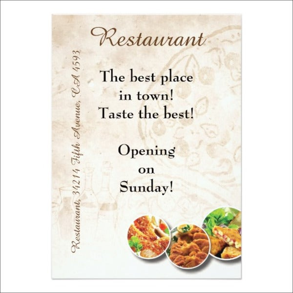 restaurant opening invitation template