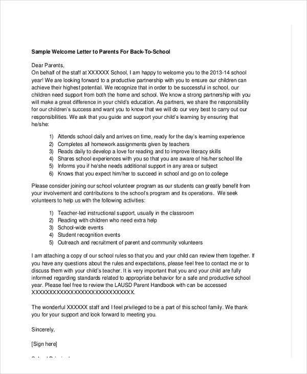 School letter templates 8+ free sample, example format download.