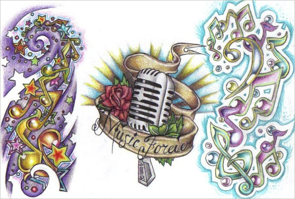 Music Tattoo Drawing