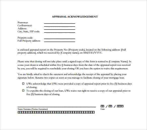 31 Acknowledgement Letter Templates Free Samples Examples – Letter of Appraisal
