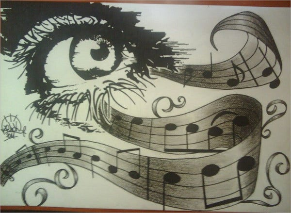Abstract Music Drawing