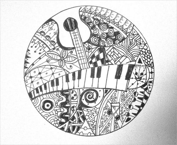 music doodle drawing1