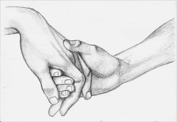 Cute hands love drawing